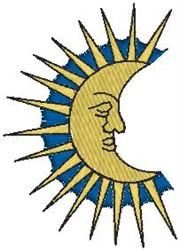 Half Sun embroidery design