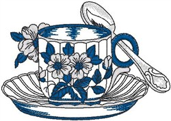 Teacup embroidery design