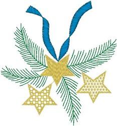 Pine Branch Stars embroidery design