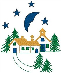 Moonlight Home embroidery design