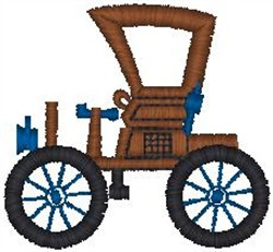 Horseless Carriage embroidery design