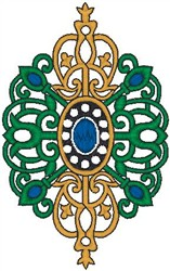 Royal Scroll embroidery design