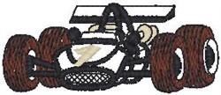Formula 1 Racer embroidery design