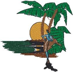 Tropical Scene embroidery design