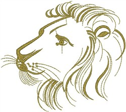 Lion Sketched embroidery design