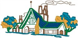 Urban House embroidery design