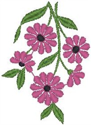 Daisies on Stems embroidery design