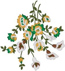 Tropical Flower Bush embroidery design