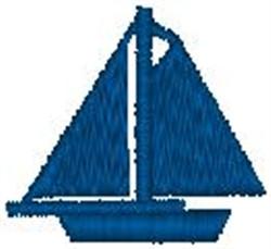 Blue Sloop embroidery design