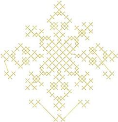 Cross Stitch Snowflake embroidery design