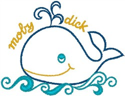 Moby Dick embroidery design