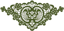 Green Fan embroidery design