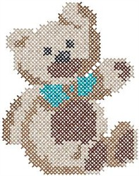 Hi Teddy Bear embroidery design