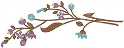 Branch with Blossoms embroidery design