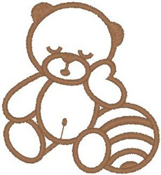 Teddy with Ball embroidery design