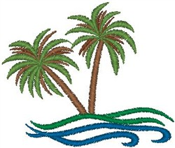 Palm Beach embroidery design
