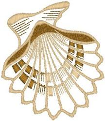 Scallop embroidery design