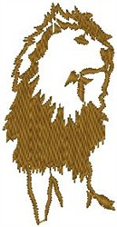 Lion Roaring embroidery design