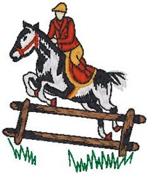 Equestrian Jump embroidery design