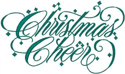 Christmas Cheer embroidery design