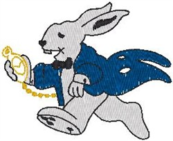 Bunny with Clock embroidery design