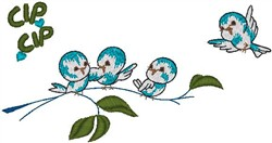 Birds on Branch embroidery design