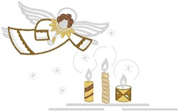 Angel with Candles embroidery design
