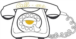 Rotary Phone embroidery design