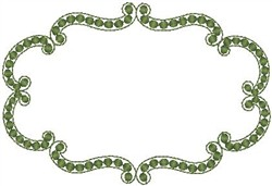Green Outline embroidery design