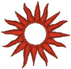 Glowing Sun embroidery design