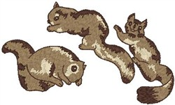 Squirrels embroidery design