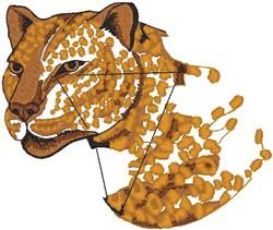 Cheetah Head embroidery design