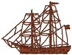 Ship embroidery design