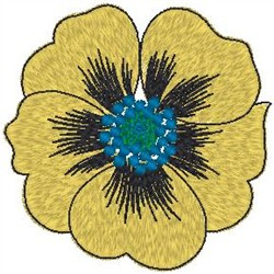 Single Bloom embroidery design