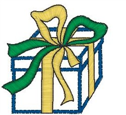 Gift with Big Bow embroidery design
