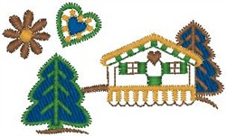 Country Cottage embroidery design