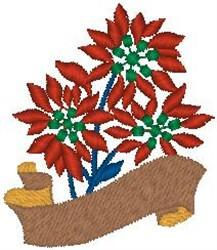 Poinsettia Scroll embroidery design