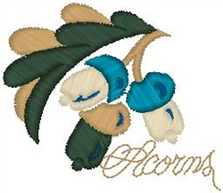 Acorns embroidery design