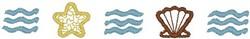 Sea Shell Border embroidery design