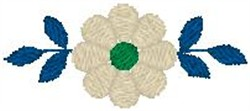 Blossom with Leaves embroidery design