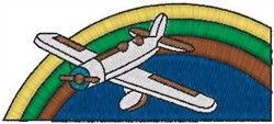 Plane Rainbow embroidery design