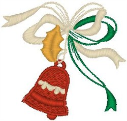 Bell with Holly Leaf embroidery design