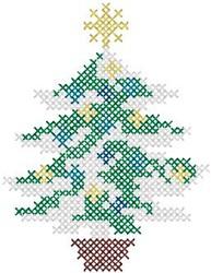 Needlepoint Tree embroidery design