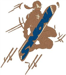 Snowboard embroidery design