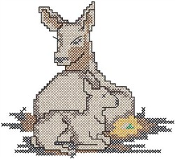Lamb embroidery design