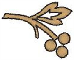 Brown Tree Berries embroidery design
