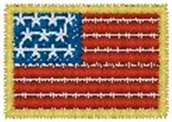 US Flag2 embroidery design