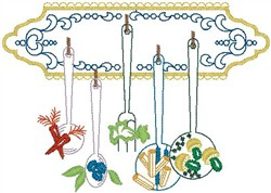 Hanging Spoons embroidery design