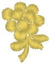 Singular Flower embroidery design