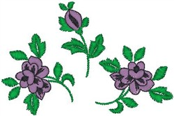 Blooms embroidery design